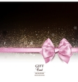 Elegant holiday background with pink bow and copy vector image