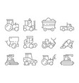 farm transport agricultural heavy machines vector image vector image