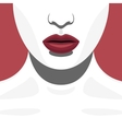 Fashion Beauty Female Model with red Lips vector image vector image