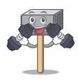 fitness character of metallic meat tenderizer vector image vector image