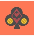 flat icon on stylish background logotype poker vector image