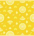 Fresh lemon orange fruits seamless pattern