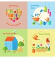 Garden Isolated Icon Set vector image