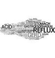 gerd word cloud concept vector image