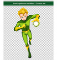 Green Superhero vector image