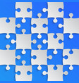 grey puzzle pieces blue - jigsaw field chess vector image vector image