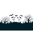 halloween night background poster vector image vector image