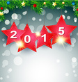 hanging 2015 Happy New Year Background vector image vector image