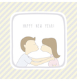 Happy new year greeting card11 vector image