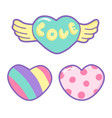 heart in pretty colors great for baby valentine vector image