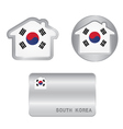 Home icon on the South Korea flag vector image vector image