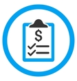Invoice Pad Rounded Icon vector image vector image