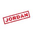 Jordan Rubber Stamp vector image vector image