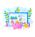 marketers and programmers provide smart financial vector image