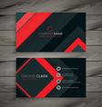 minimal dark business card design vector image vector image