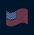 neon us flag glowing sign patriot day vector image vector image