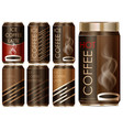 package design for different types of coffee vector image vector image