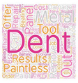 Paintless Dent Removal text background wordcloud vector image vector image