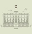 palazzo wedekind in rome italy vector image vector image