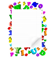 paper with ABC vector image