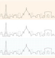 paris hand drawn skyline vector image vector image