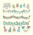 party freehand doodles vector image vector image