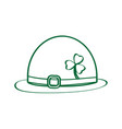 patrick day hat outline vector image vector image