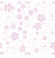 pink and white seamless repeat floral pattern vector image vector image