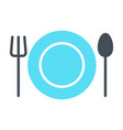 plate fork and spoon icon cutlery sign vector image vector image