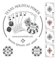 Poker emblem and design elements vector image vector image