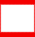 red and white border made of animal paw vector image