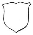 renaissance shield are escutcheon in heraldry vector image vector image