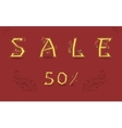 Sale Fifty percents Graceful font vector image vector image