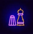 salt pepper neon sign vector image