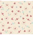 Seamless hearts pattern retro texture pink and min vector image vector image