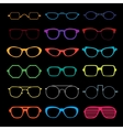 set different glasses vector image