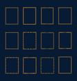 set luxury golden frames and borders set set vector image vector image