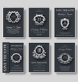 set of luxury flyer pages set with logo ornament vector image vector image
