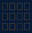 set of luxury golden frames and borders set set vector image vector image