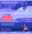 set of winter sport and active vector image vector image
