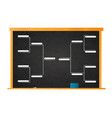 sport tournament bracket template for 8 teams on vector image
