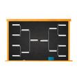 sport tournament bracket template for 8 teams vector image vector image