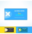 surfing lesson ad flyer in modern flat vector image vector image