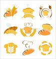 symbols bread vector image vector image