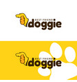 template logo for doggie pet shop vector image vector image