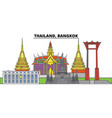 thailand bangkok city skyline architecture vector image