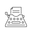 typewriter outline icon vector image vector image