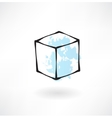 white box grunge icon vector image vector image