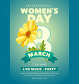 womens day party flyer vector image vector image