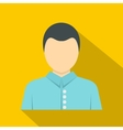 Young dark haired man icon flat style vector image vector image